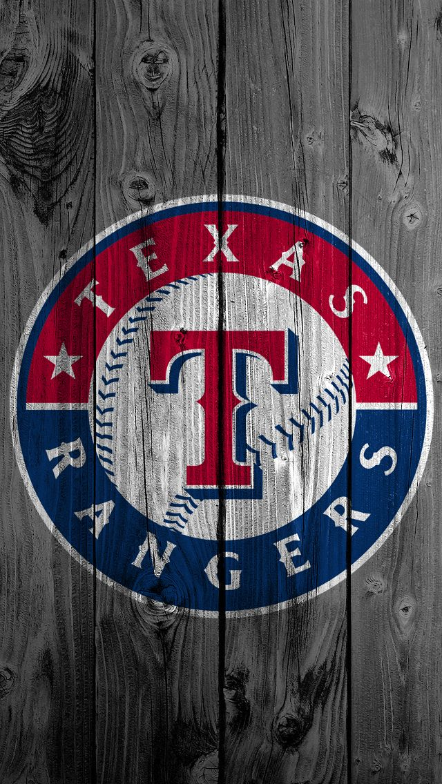 Texas Rangers Wood iPhone Background Kristopher Legg