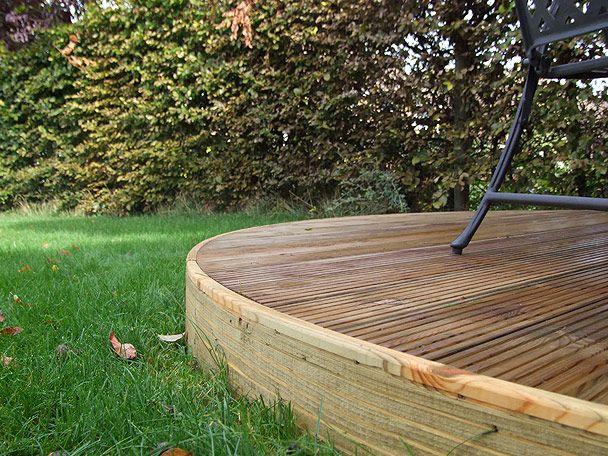 Curved Decking Curved Deck Garden Design Terraced Backyard