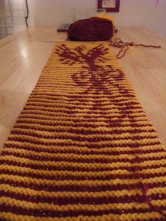 Harry Potter - Fawkes the Phoenix Illusion Scarf Knitting PDF ...