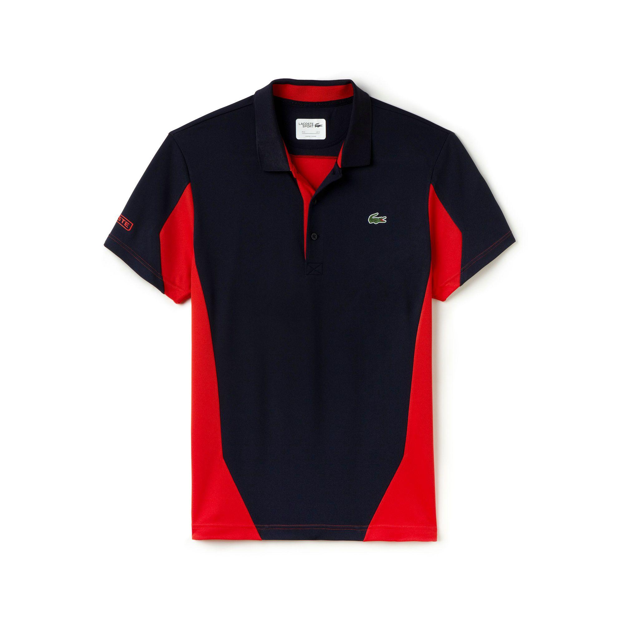 Men S Sport Ultra Dry Color Block Tennis T Shirt Lacoste Polo Shirt Design Polo Tee Shirts Shirts
