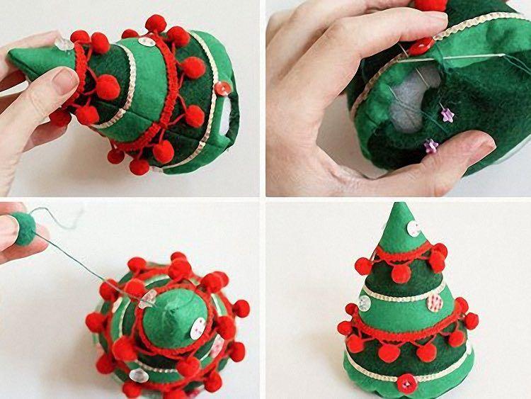 Tutoriales DIY Cmo hacer adornos de Navidad con fieltro va