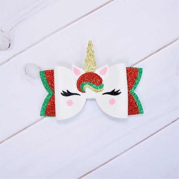Unicorn hair bow Glitter unicorn bow Toddler girl unicorn birthday Baby unicorn party Baby unicorn o