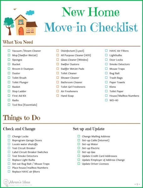 Tips & Checklist for Moving to a New Home - Akram's Ideas
