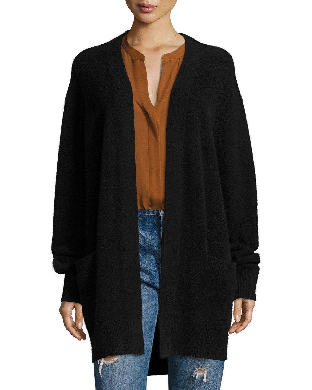 Boiled Cashmere Open-Front Long-Line Cardigan   Cardigans For Men ...