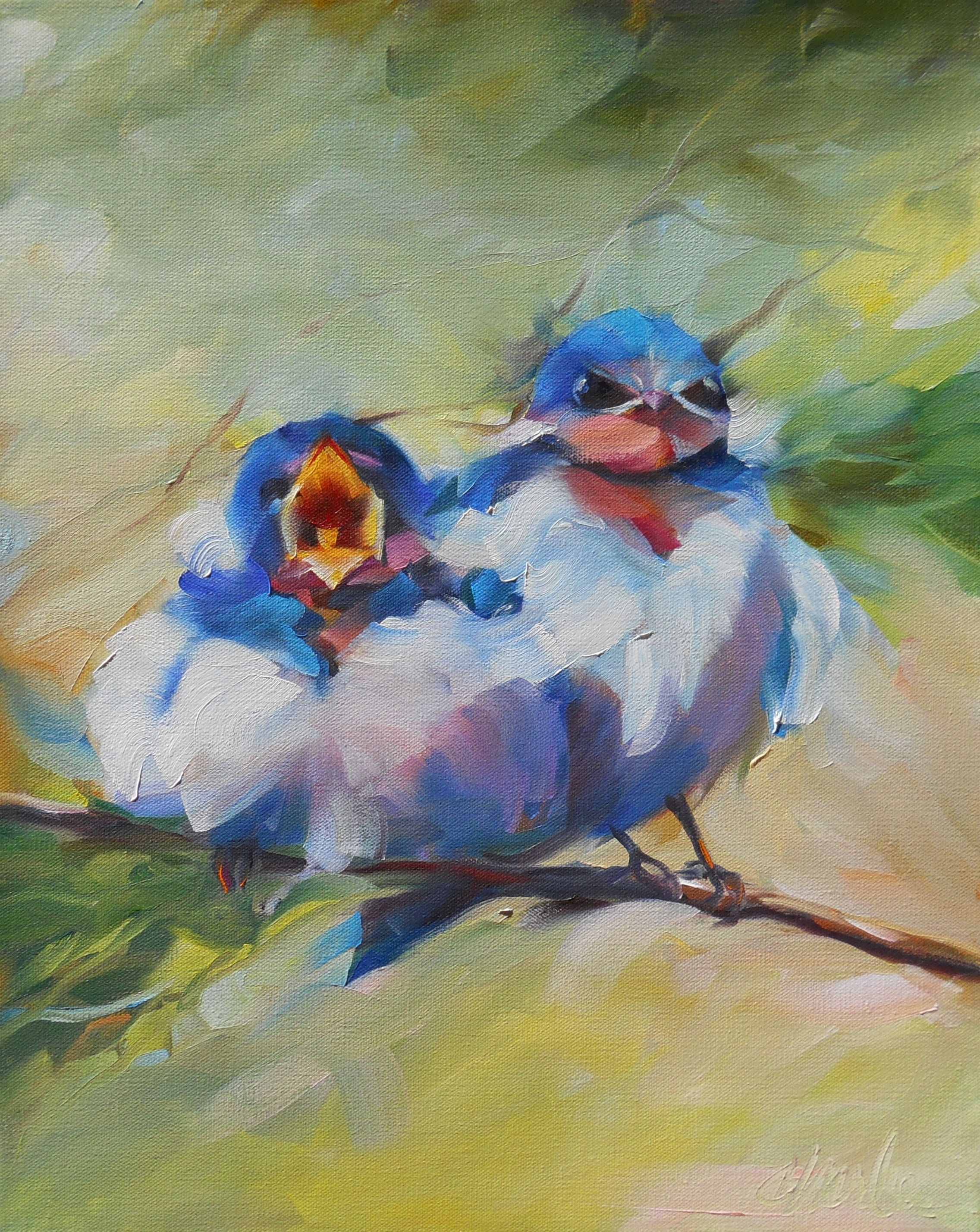 """""""MOM!!!"""" by Beth Charles.  Oil on gallery wrapped canvas.  16""""x20""""  bethcharlesart.com"""