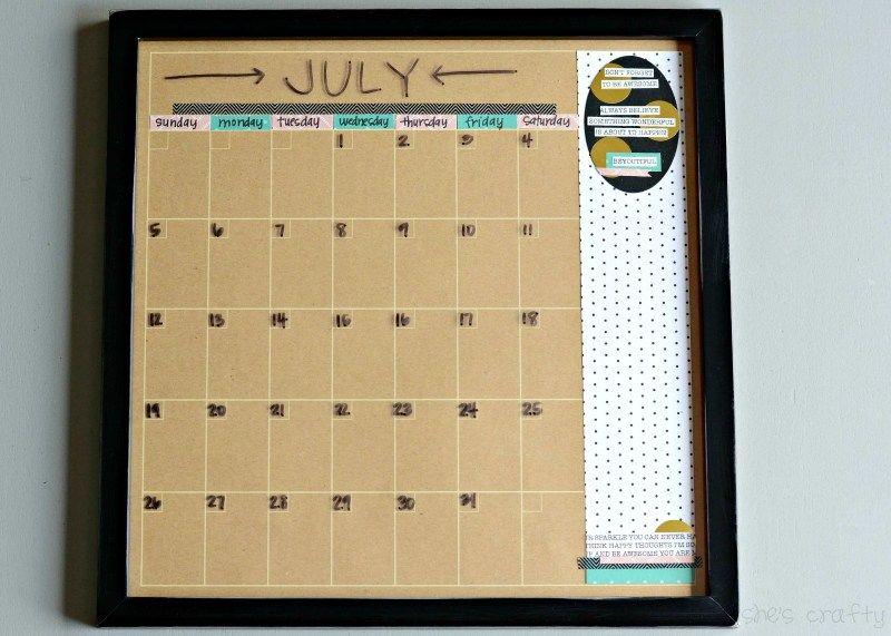 DIY Dry Erase Wall Calendar | Tutorials | Pinterest | Dry erase wall ...