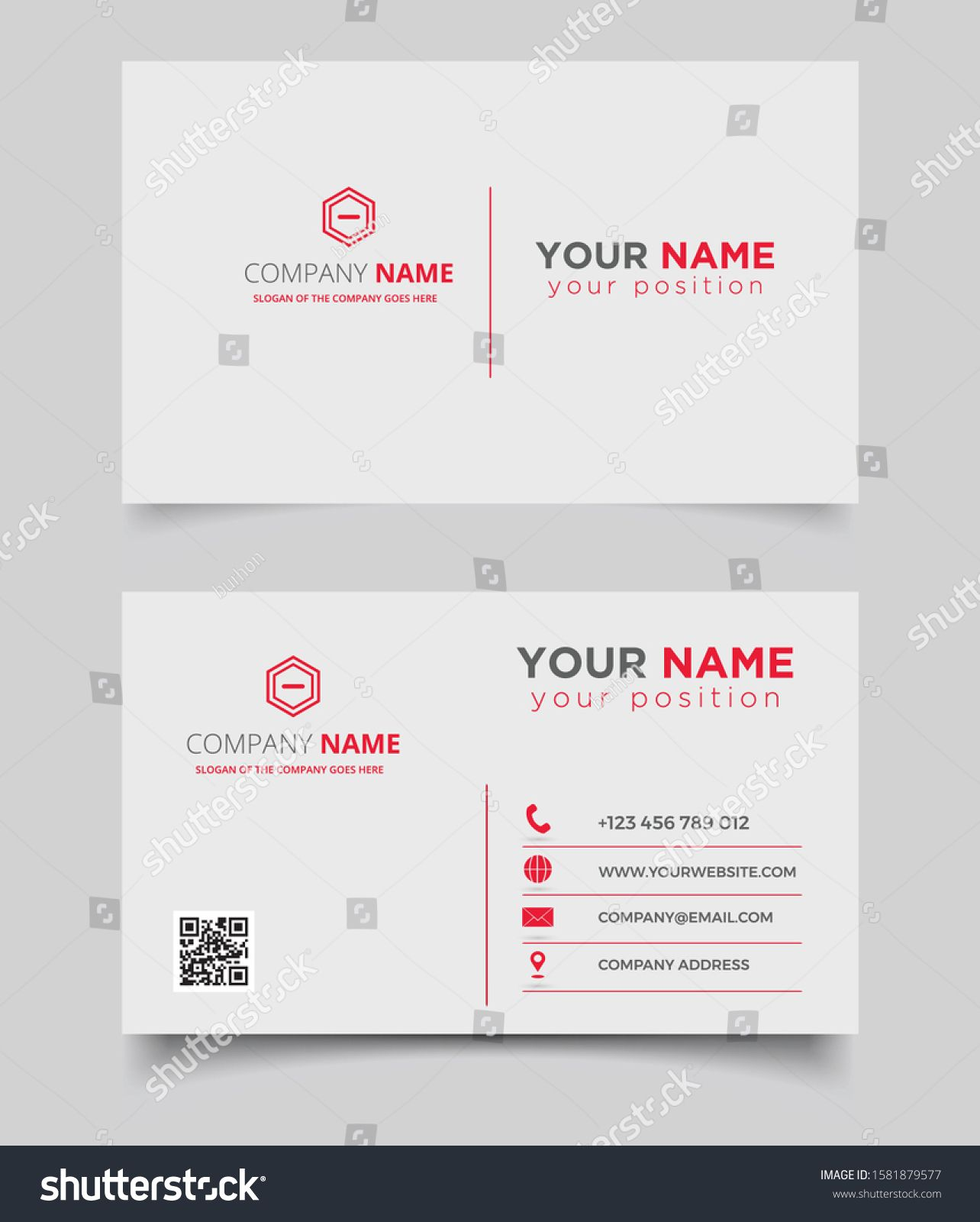 Modern Creative Design Simple Business Card Stock Vector Royalty