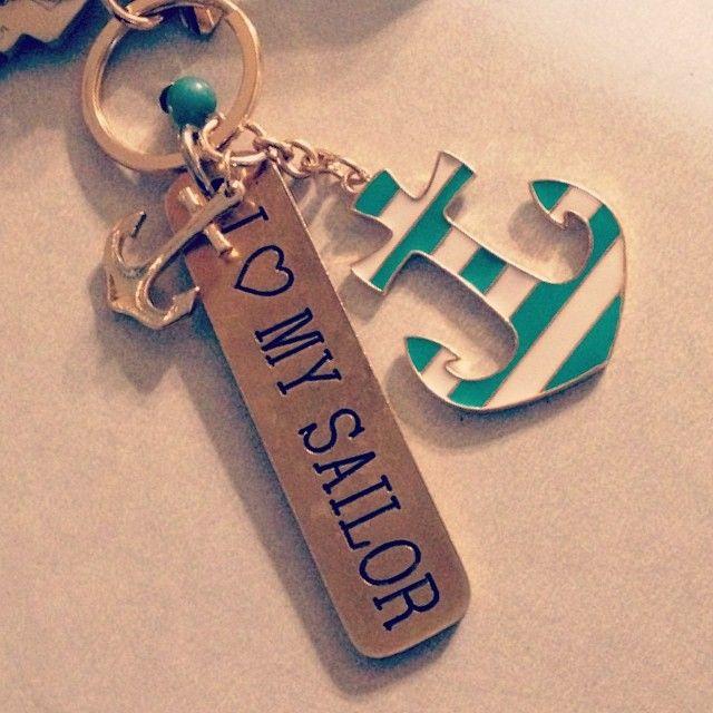 "Navy I Love A Sailor Pin 1/"" U.S"