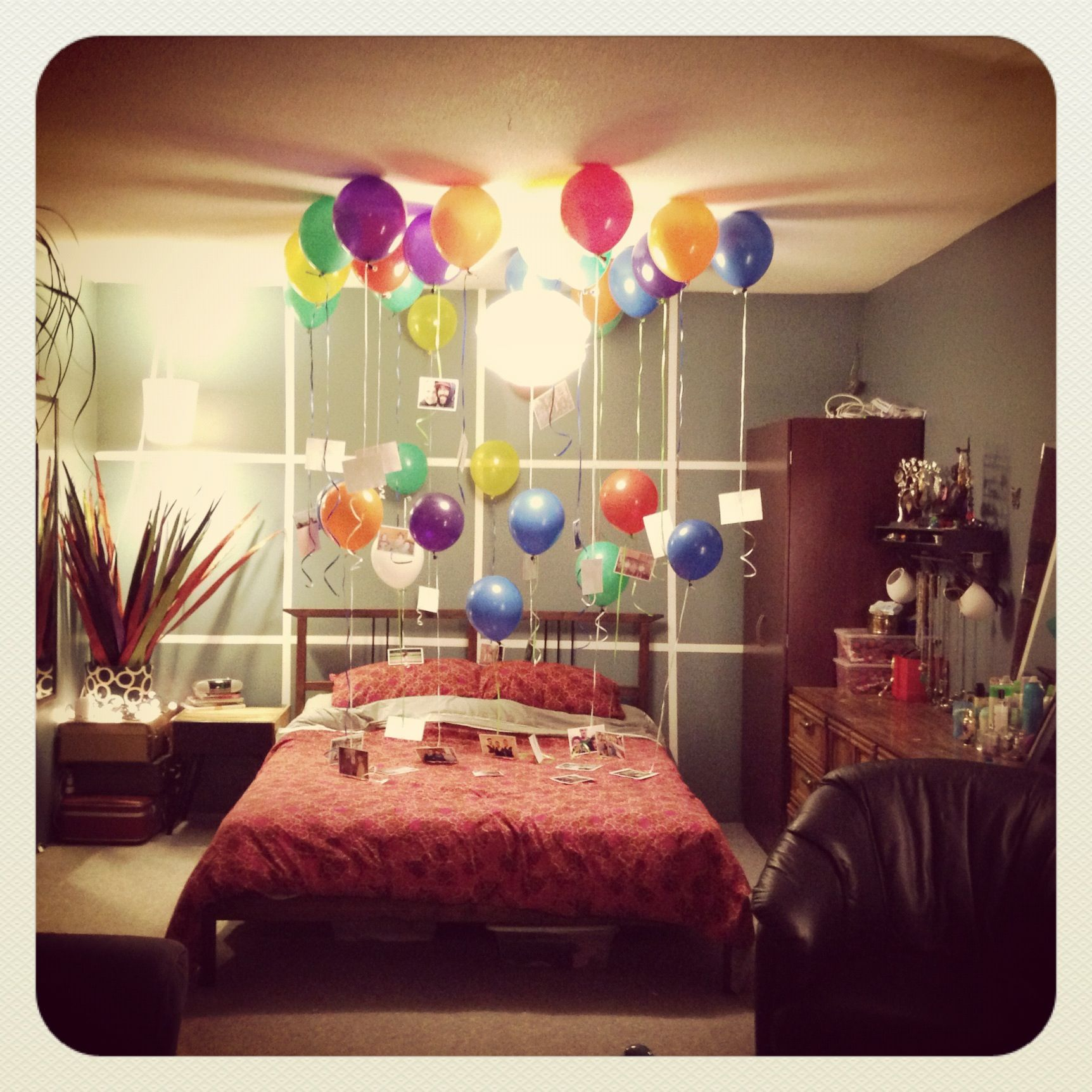 Birthday surprise for the boyfriend done that for Room decor ideas for husband birthday