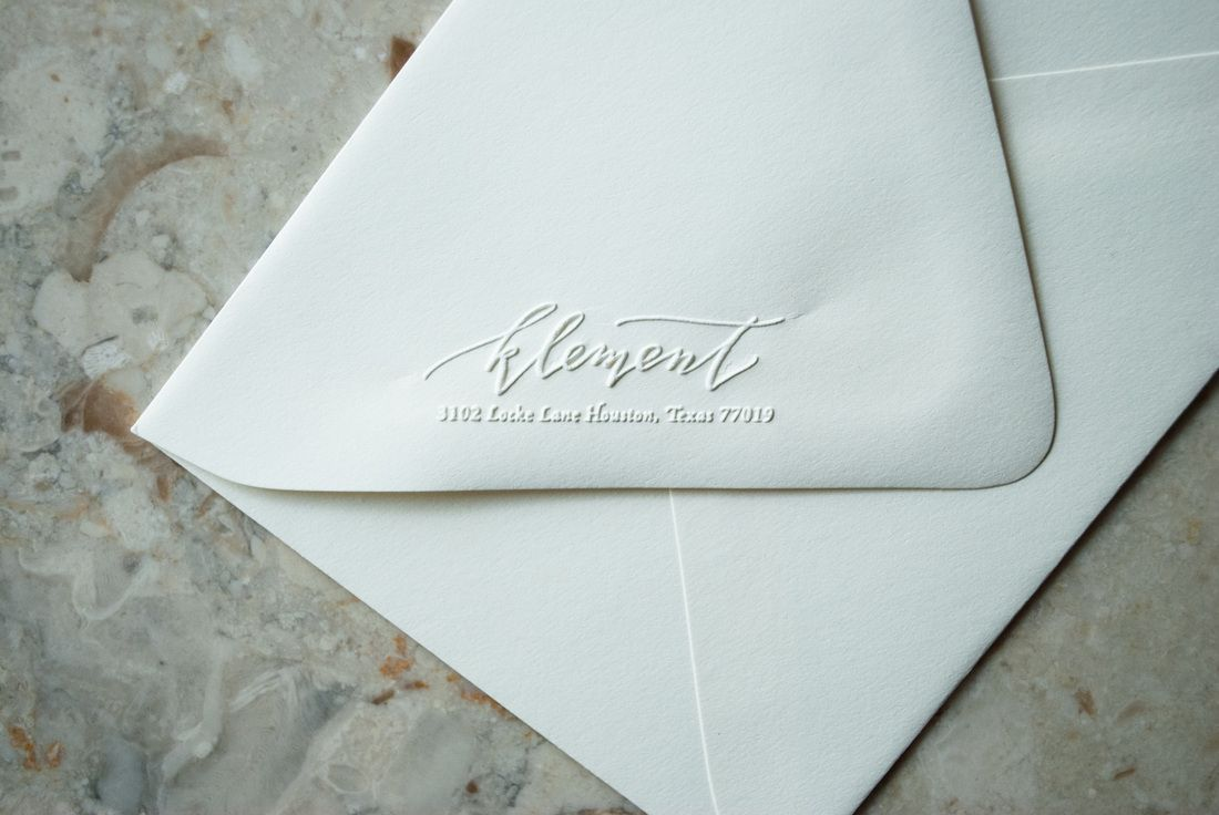 embossed calligraphy return address   Finishing Touches   Pinterest ...