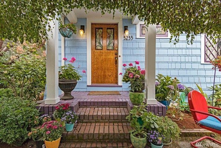 cute porch nice colors Decoraciones de jardín, Jardines