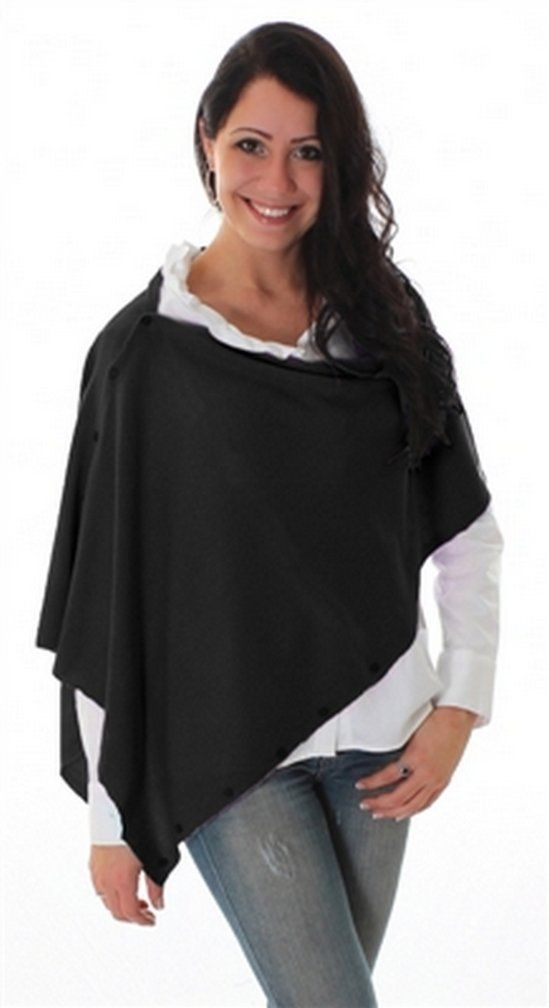 Noelle's Soft Comfortable Bordeaux Shawl Wrap Scarf - Variety of Colors (Black)