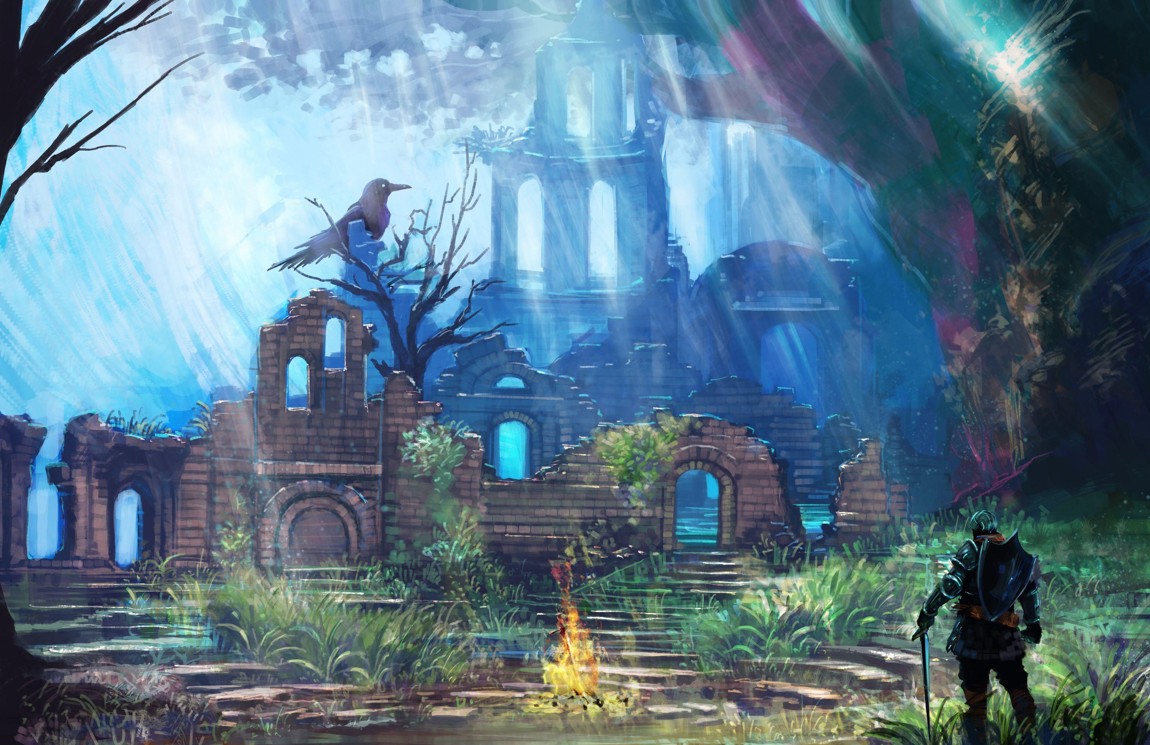 Dark Souls Firelink Shrine Dark Souls Art Dark Souls Art Fantastique