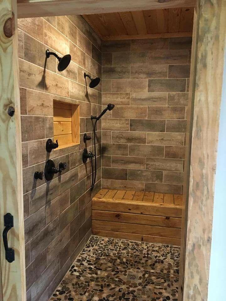 Double Shower Custombathremodeling Unique Bathroom Tiles Rustic Bathroom Shower Master Bathroom Shower