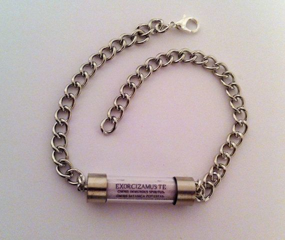 How Much Are Charm Bracelets: Supernatural Exorcism Spell Bracelet SMALL OR By