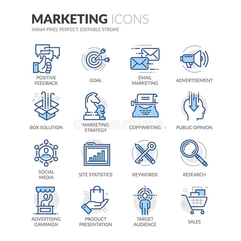 Line Marketing Icons. Simple Set of Marketing Related