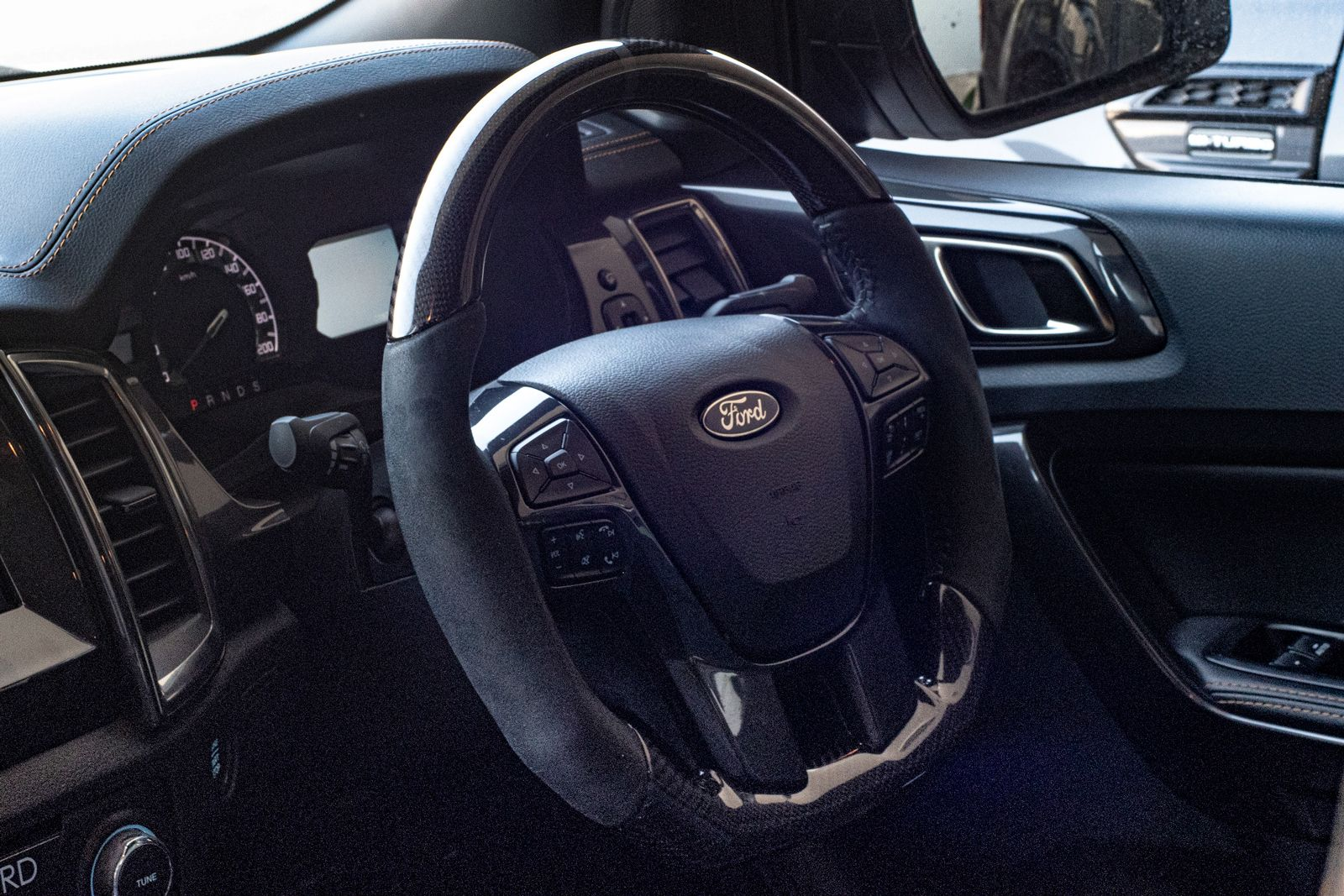 The New Tickford Flat Bottom Sports Steering Wheel Perfectly Compliments Your Ford Ranger Providing Greater Confidence Ford Ranger Performance Driving Ranger