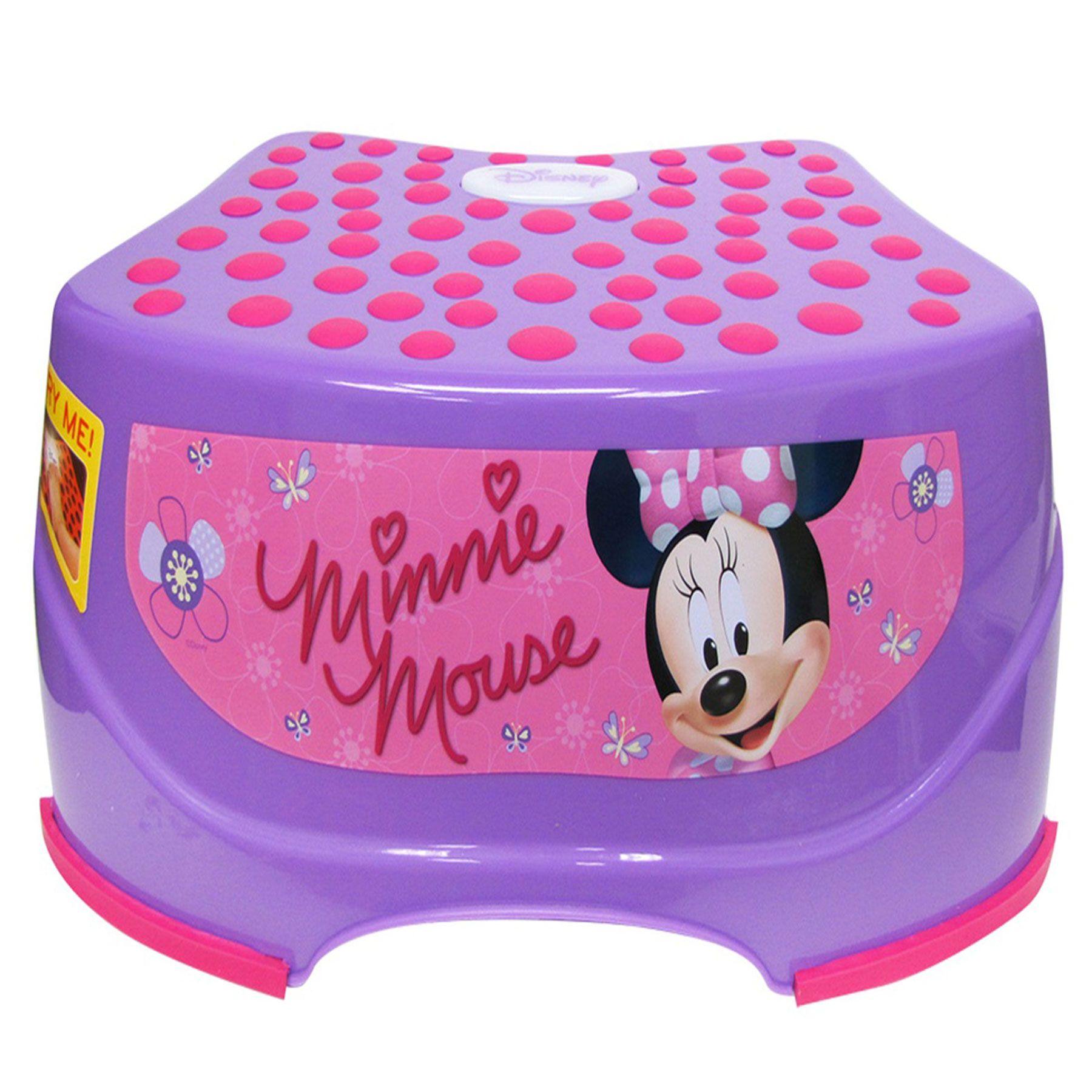 Minnie Mouse Step N Glow Step Stool Kids Bathroom