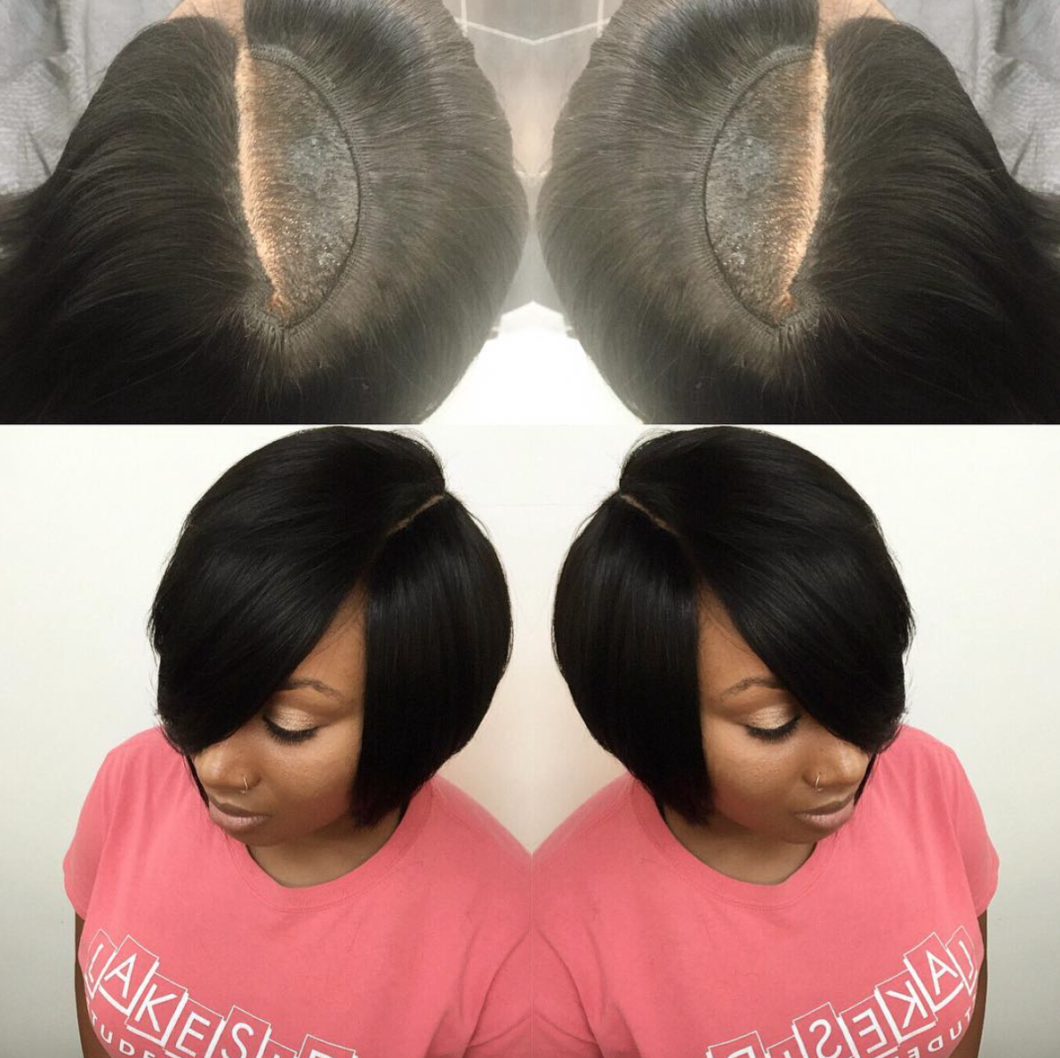 Nice invisible part quick weave via hairbylatise black hair