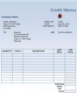 credit memo template word excel pdf templates www