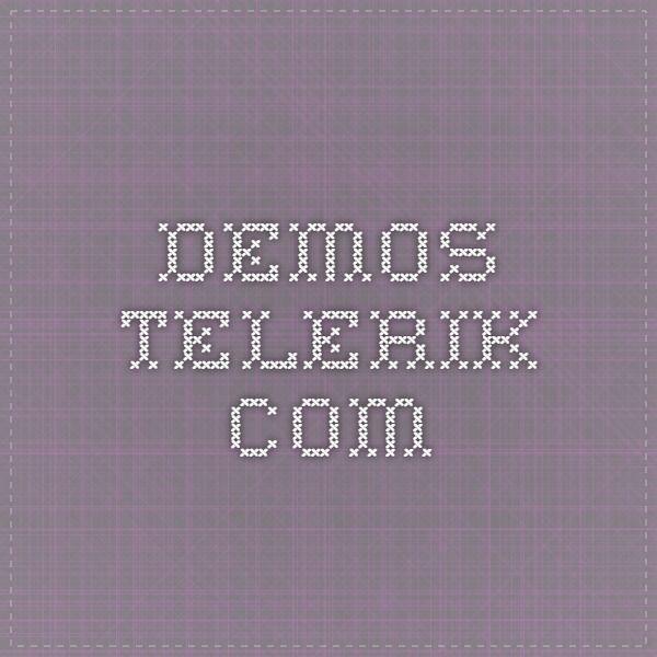 Demos Telerik Com Web Design Software Design Persistence
