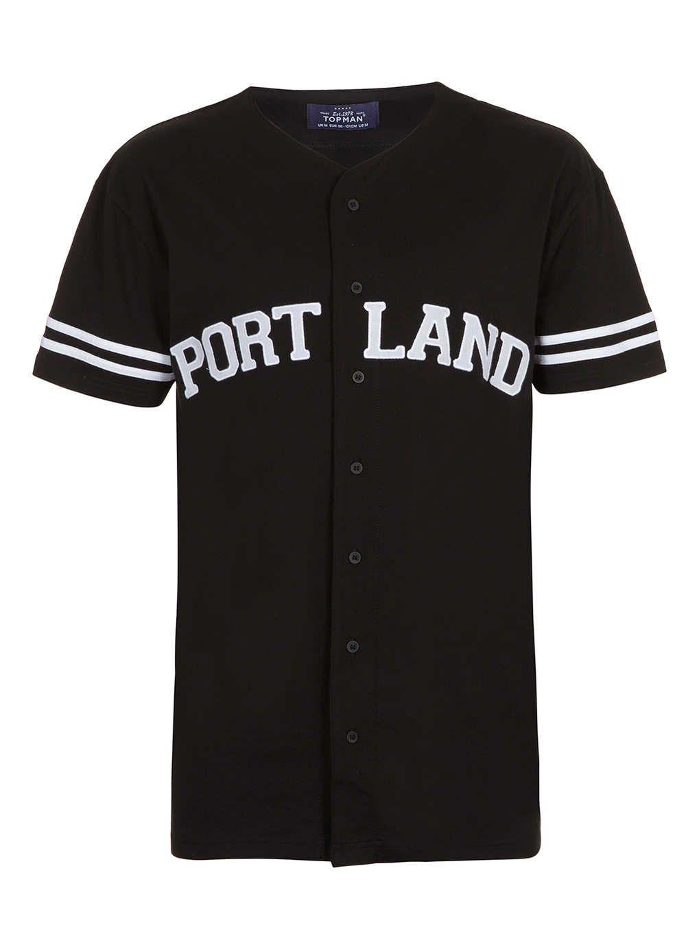 Black t shirt topman - Black Portland Baseball Shirt New This Week New In Topman