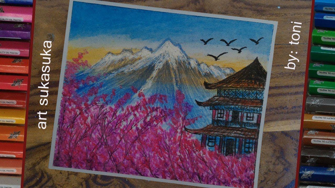 scenery drawing- cara menggambar pemandangan step by step
