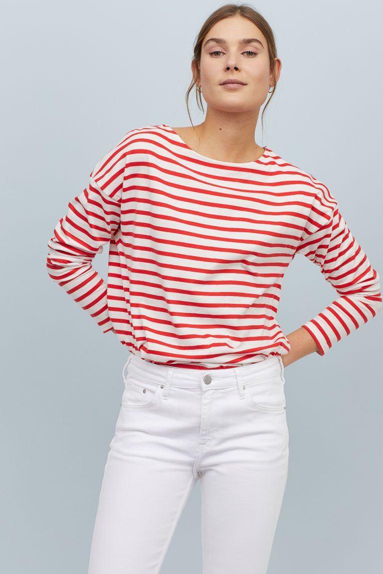 b9dffeb6e4c Striped Top in 2019 | Vêtements | Tops, Long sleeve tops, Topshop style