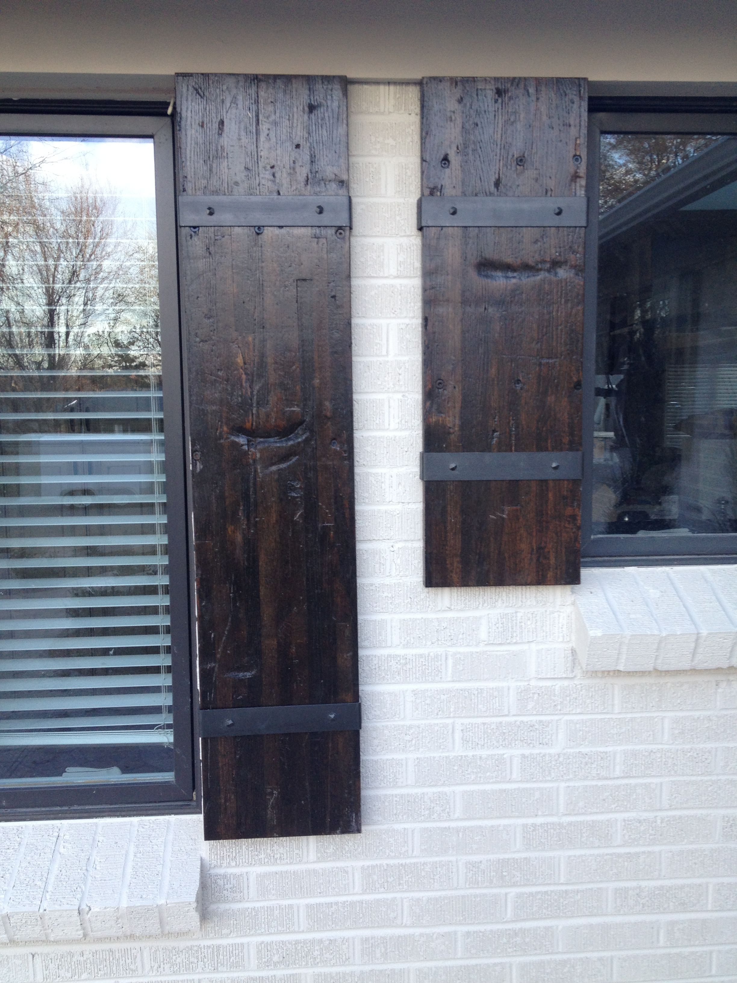 Exterior reclaimed wood shutters old shutters wood