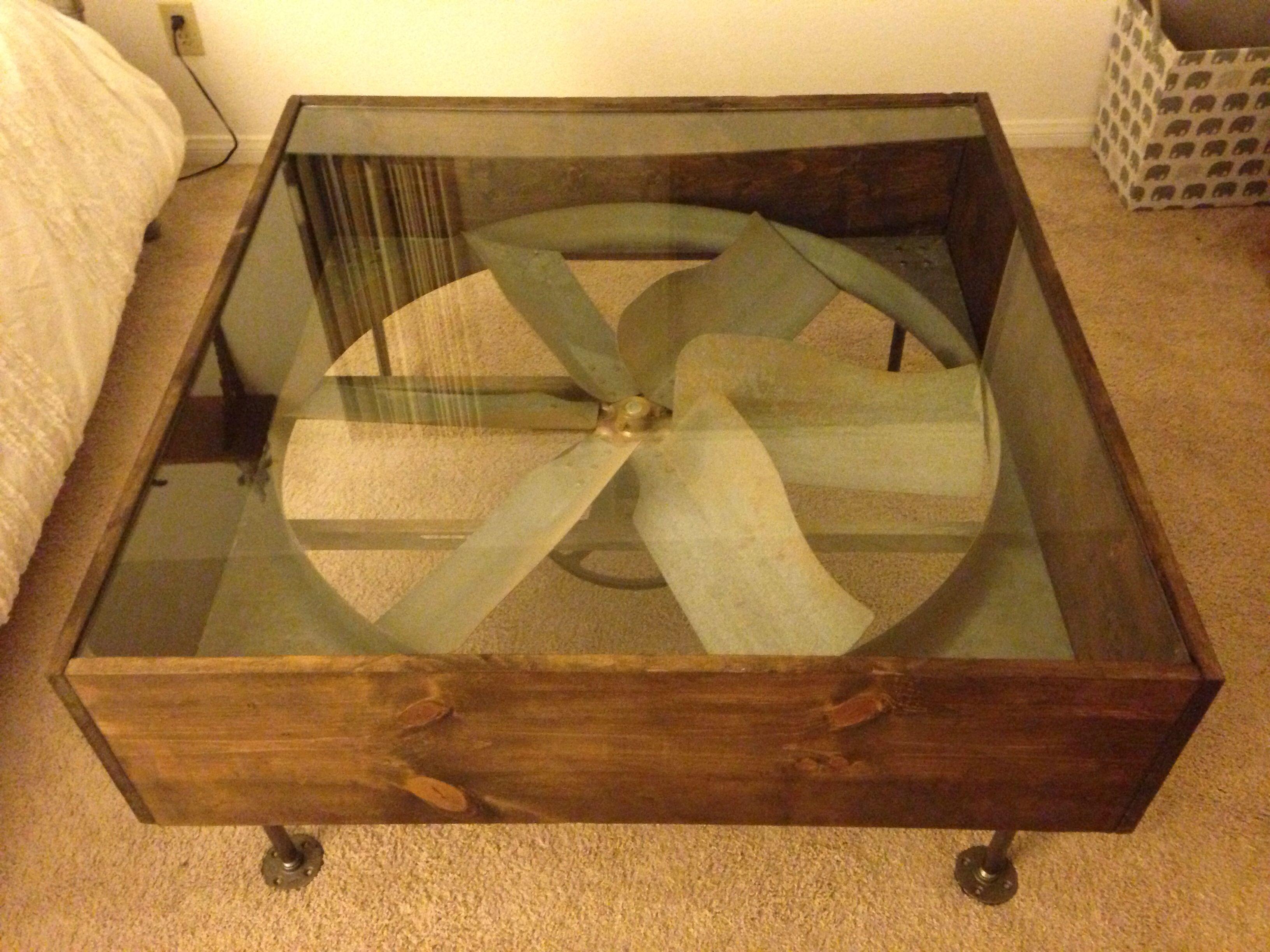 Industrial Fan Coffee Table Soooo Cool Industrial Fan Table Crafty Decor Pinterest