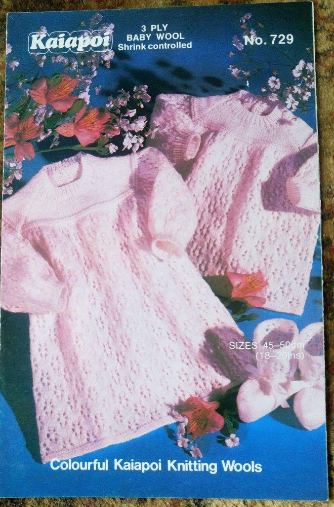 b8ec50cf2 Baby Angel Top Dress   Bootees vintage knitting pattern 3 ply yarn ...