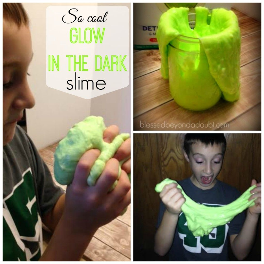 The Coolest Homemade Slime Recipe It Glows In The Dark