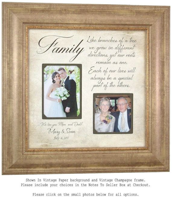 Personalized Picture Frames Custom Wedding Picture Frame with Family ...