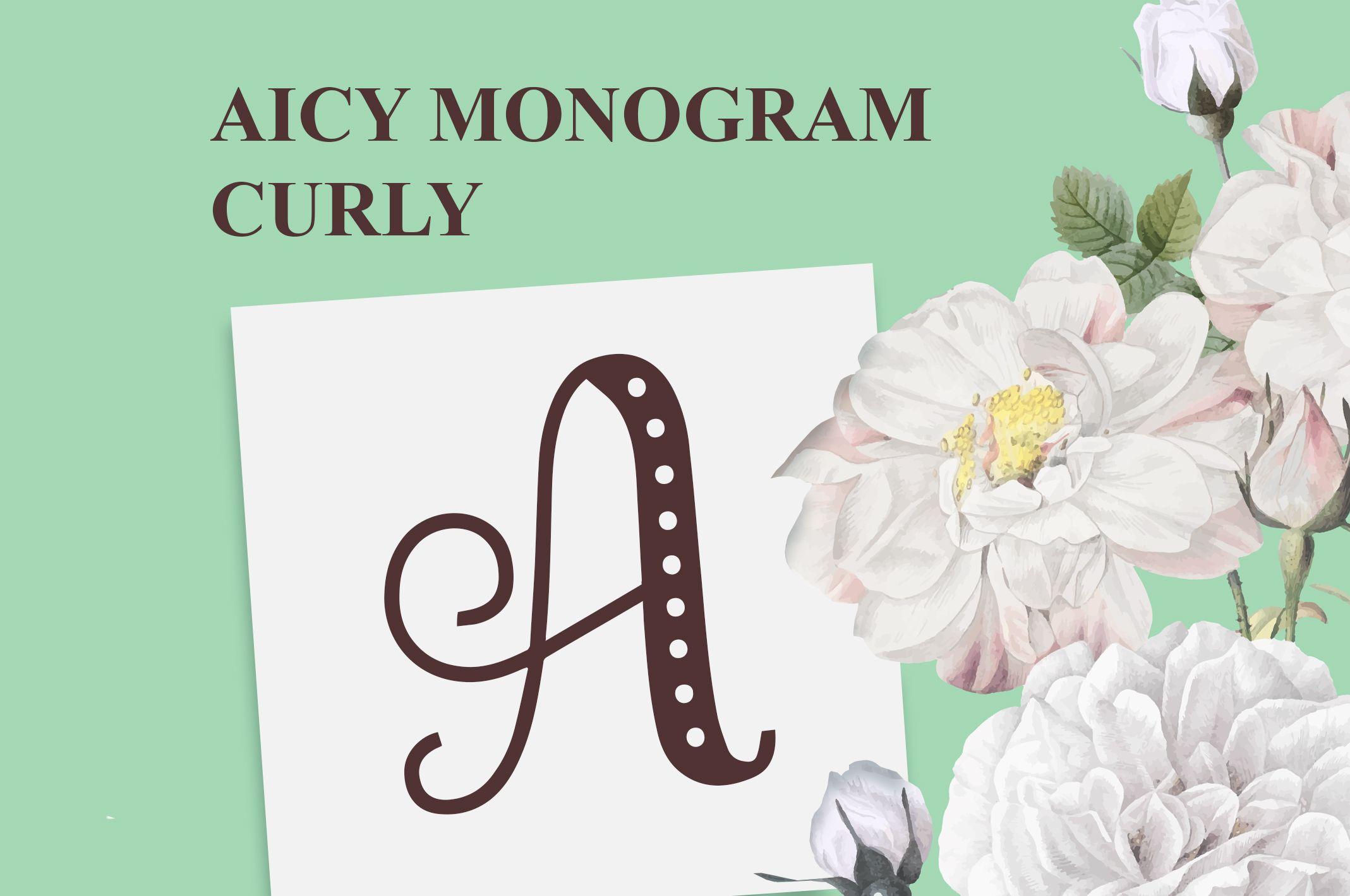 Aicy Monogram Curly (Font) by Typefar