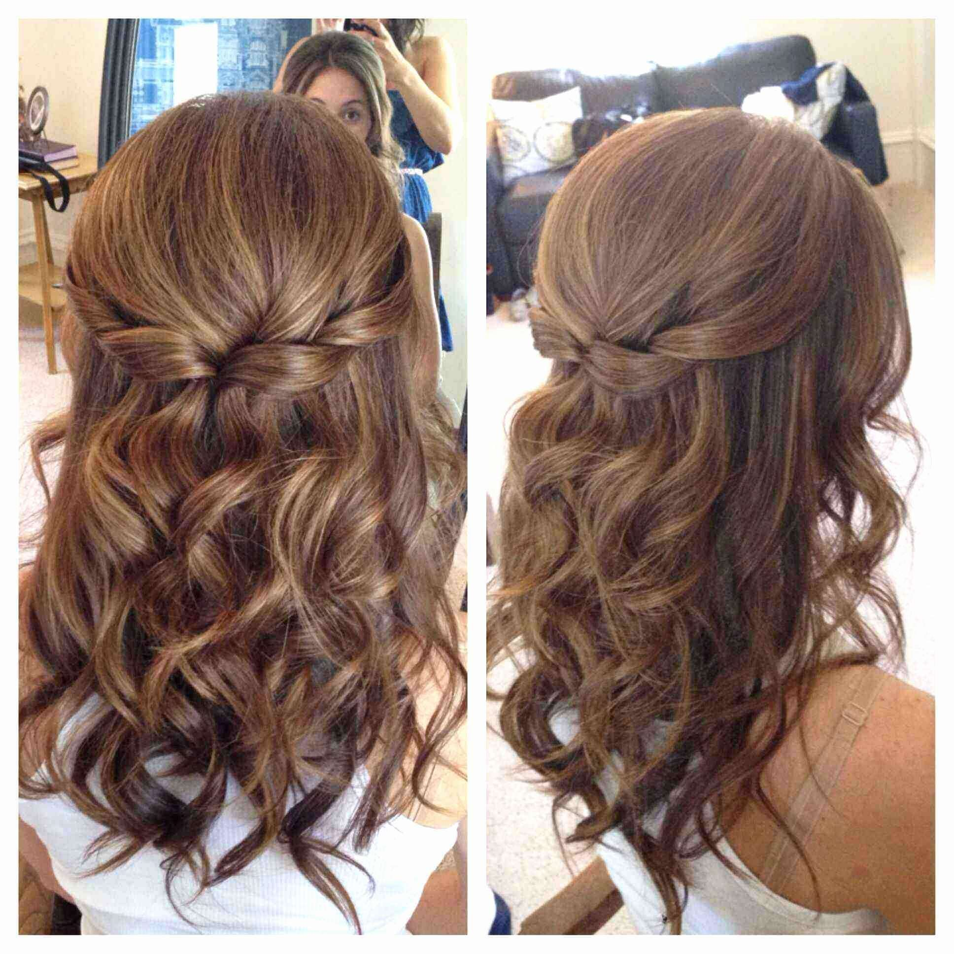 Half up half down hairstyles on straight hair lovely wedding