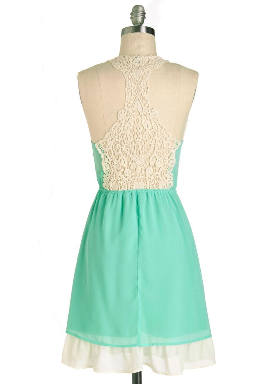 Will you fall for this lacy racer-back dress? Only springtime will ...