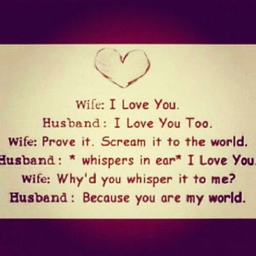 Aaaahhhh That Is Ssoo Sweet! Love #wife #husband #iloveyou