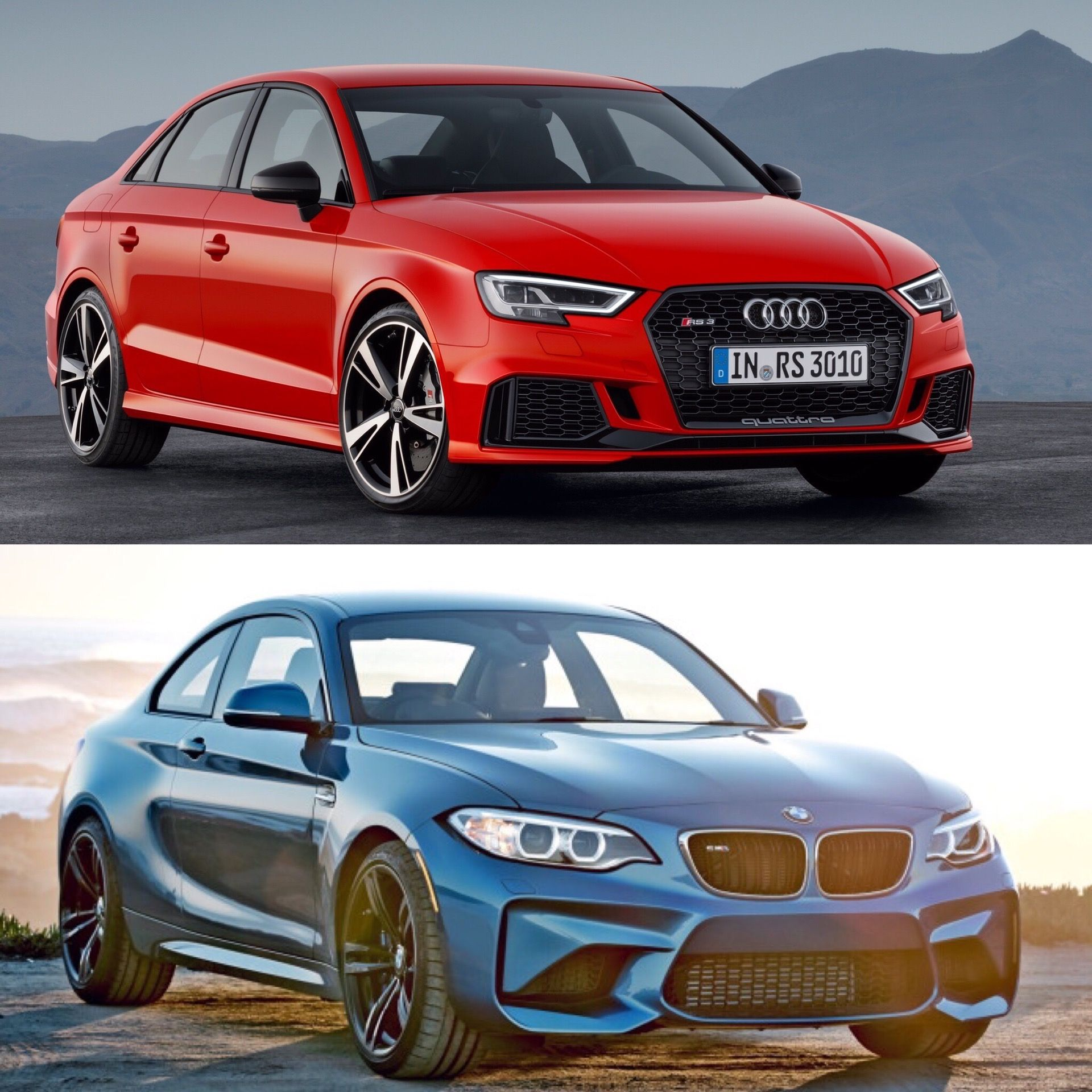 which to buy bmw m2 or audi rs3 sedan http www bmwblog com 2017 rh pinterest com