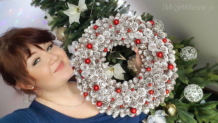 Diy Jak Zrobic Wianek Z Szyszek Christmas Wreaths Wreaths Holiday Decor