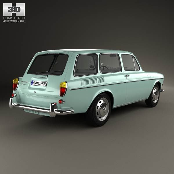 Volkswagen Type 3 1600 Variant 1965 3d Car Model With Images
