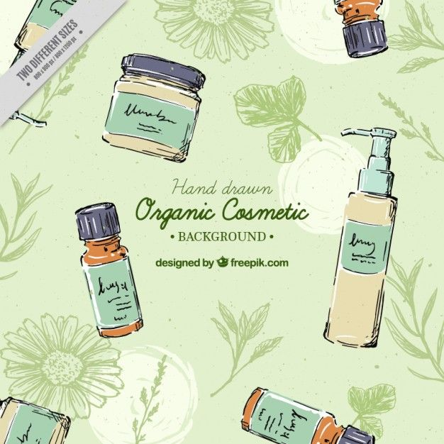 Download Hand Drawn Organic Cosmetics Background For Free