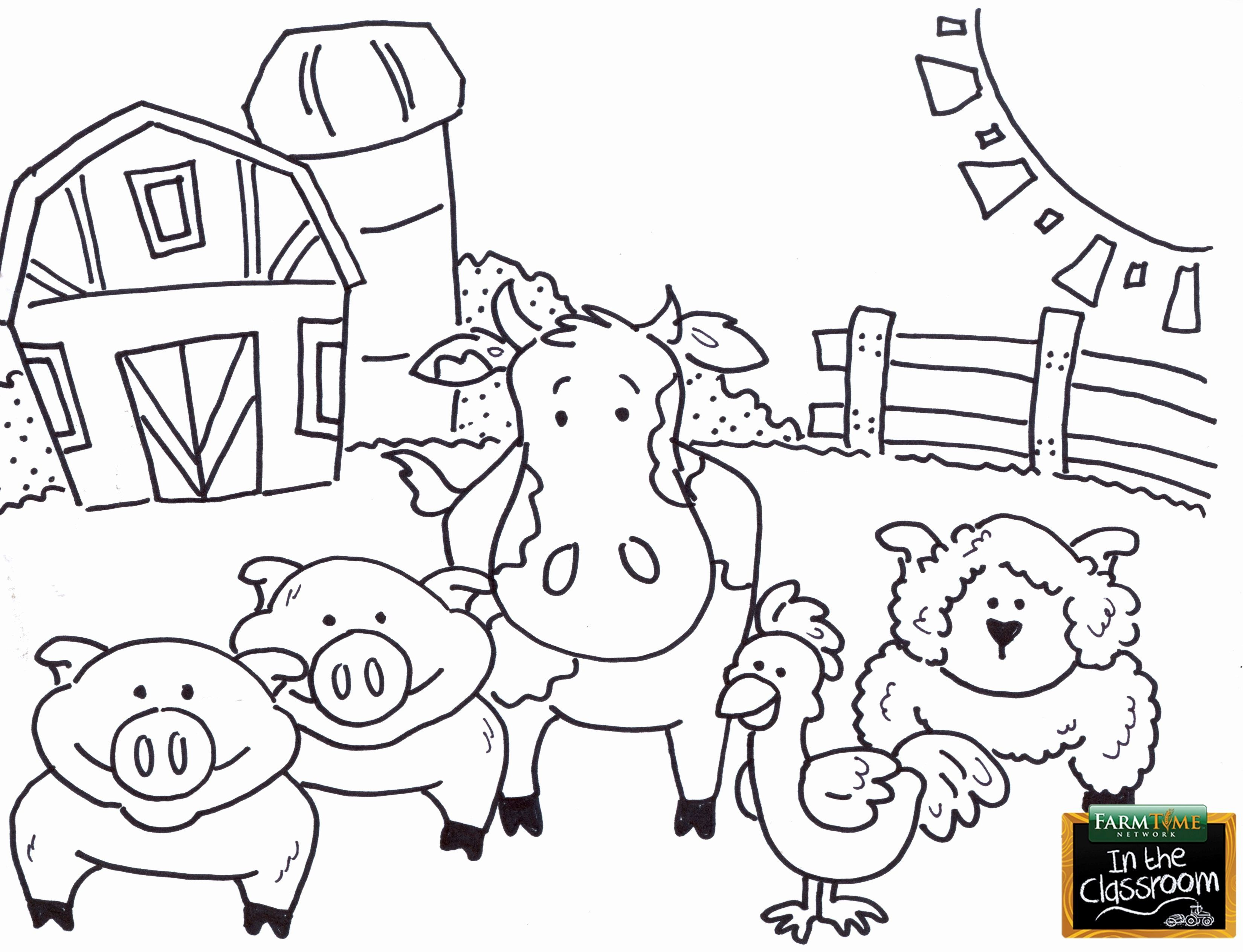 Farm Animals Coloring Page Beautiful Pin By Caiah Wagner