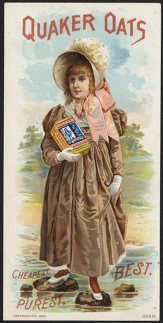 Quaker Oats Cheapest Purest Best Front Oats Quaker Vintage Advertising Art Vintage Posters