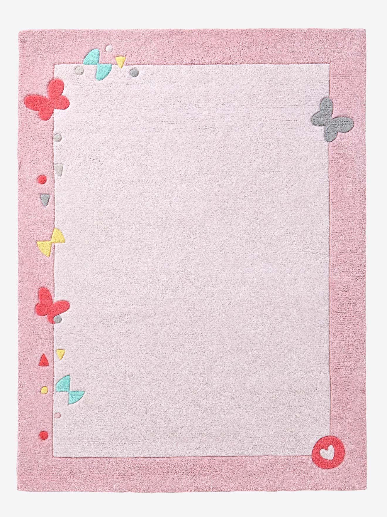 Kinderteppich vertbaudet  Vertbaudet Kinderteppich aus reiner Baumwolle in rosa | Juna ...