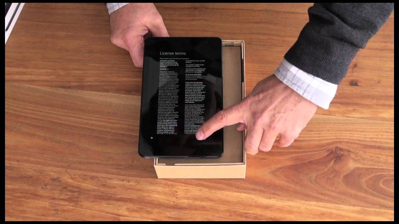 """My first try at an """"unboxing"""" video! The Dell Venue 8 Pro"""