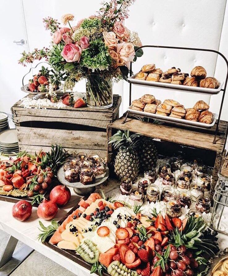 Wedding Food Tables: Breakfast Buffet Table, Food Displays