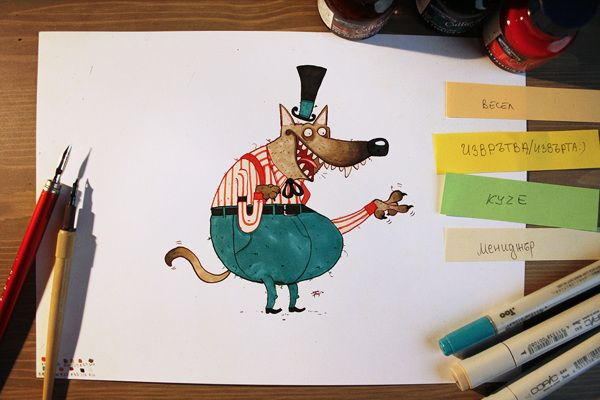 Daily Character Drawings XI by Nelson Atmos, via Behance