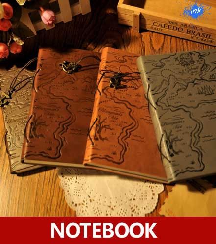 New Vintage Notebook for Pirate , vintage leather Treasure Map - blank memo