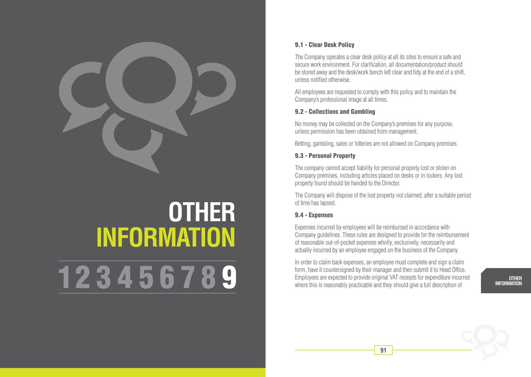 Employee Handbook For Freesims  Office Culture