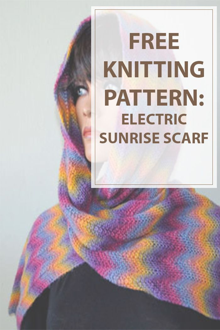 A Easy Knitting Pattern For A Great Looking Scarf The Electric